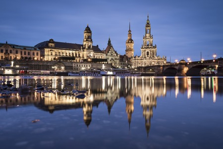 Dresden, Germany on the Elbe River. photo