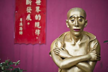 Buddha statue at Ten Thousand Buddhas Monastery in Hong Kong, China.