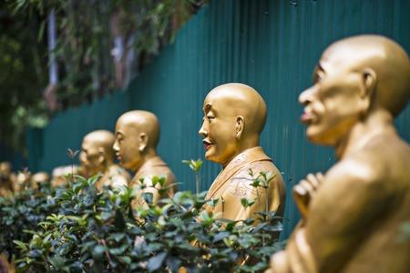 Buddha statues at Ten Thousand Buddhas Monastery in Hong Kong, China. photo