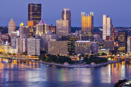 Pittsburgh, Pennsylvania, USA at twilight. photo