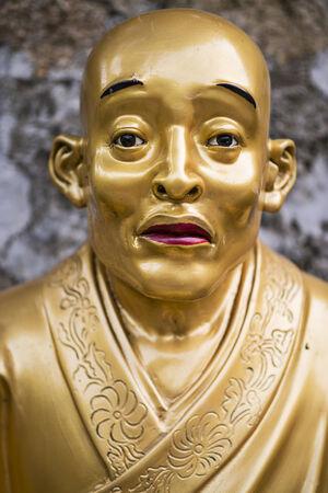 Buddha statue at Ten Thousand Buddhas Monastery in Hong Kong, China. photo