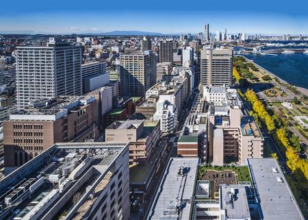 Yokohama, Japan veiwed from above.