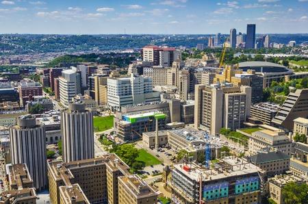 PIttsburgh, Pennsylvania, USA skyline over the Oakland District.