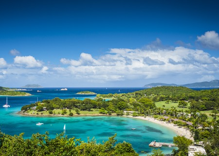 the virgin islands: St John, United States Virgin Islands at Caneel Bay Stock Photo