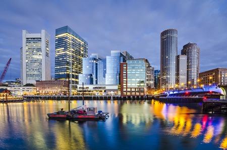 Boston, Massachusetts downtown city skyline. photo