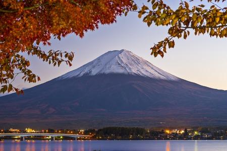 Mt Fuji in the Fall season. Standard-Bild
