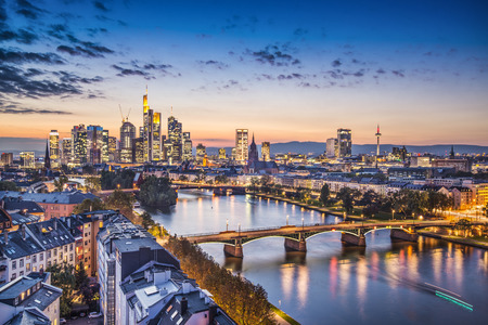 Frankfurt, Deutschland, an der Kathedrale.