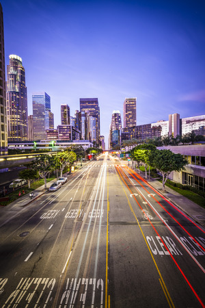 central california: Los Angeles, California, USA downtown cityscape.