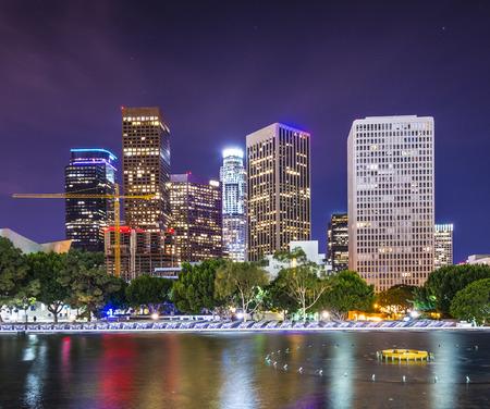 Los Angeles, California downtown skyline. photo