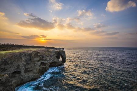 okinawa: Manzamo Cape in Okinawa, Japan. Stock Photo