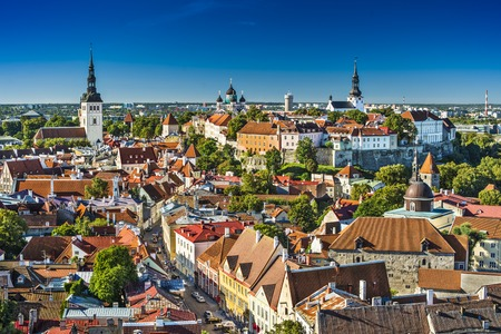 Tallinn, Estonia old city view.