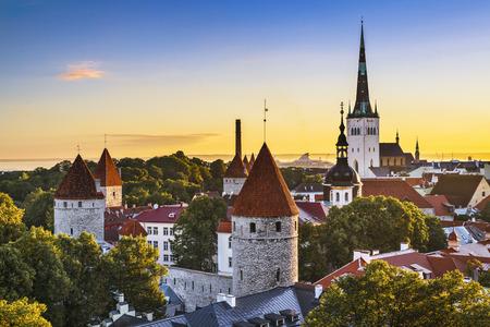 Tallinn, Estonia old city view. photo