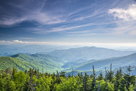 smokies: View from Clingmans Dome in the Great Smoky Mountains National Park near Gatlinburg, Tennessee.