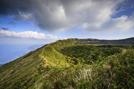 caldera: Hachijojima, Japan volcano caldera. Stock Photo