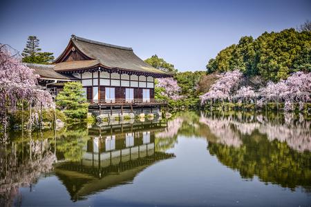 ground cherry: Kyoto, Japan gardens at Heian Shrine.