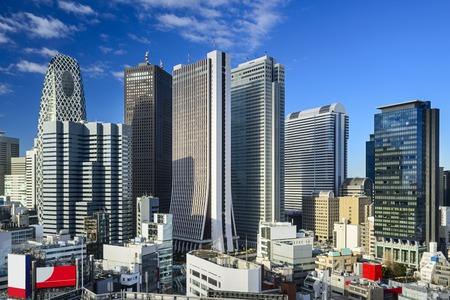 Shinjuku, Tokyo skyscraper district. Stock Photo