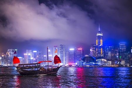 victoria harbor: Hong Kong, China at victoria Harbor.