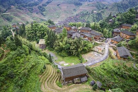 guilin: Longsheng village in Guangxi, China.