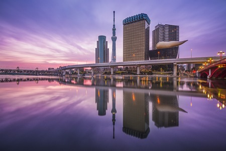Tokyo, Japan skyline on the Sumida River.