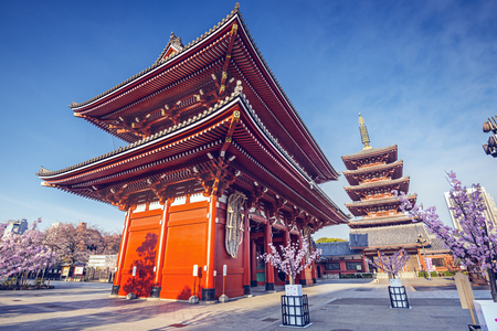 Senso-ji Temple in Asakusa, Tokyo, Japan.
