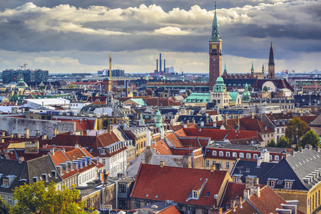 Copenhagen, Denmark old city skyline. Stock Photo - 30147500