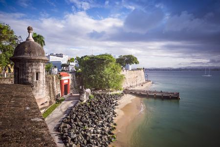 San Juan、プエルトリコの海岸。