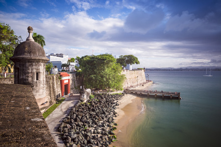 San Juan, Puerto Rico coast. Stock Photo