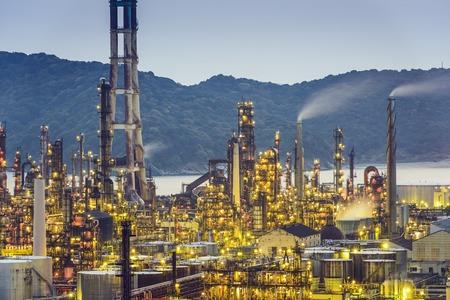 industrial park: Oil refineries in Wakayama, Japan.