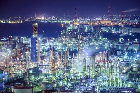 emissions: Industrial skyline in Yokkaichi, Japan.