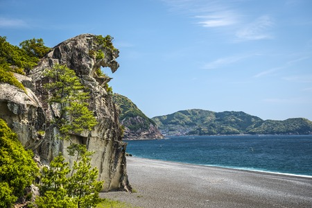 crag: Lion Crag (Shishi-iwa) in Kumano, Japan.