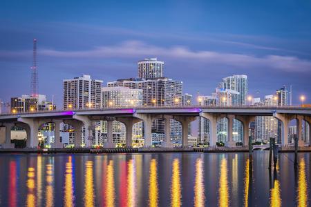 ports: Miami, Florida, USA centro urbano. Archivio Fotografico