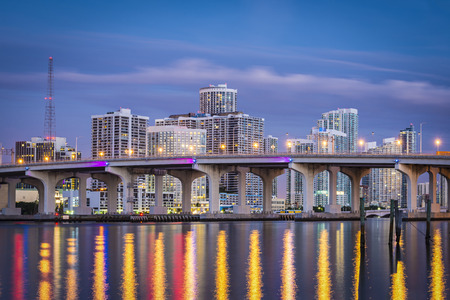 floridian: Miami, Florida, USA downtown cityscape. Stock Photo