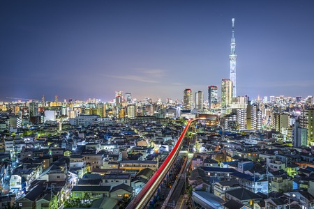 tokyo japan: Tokyo, Japan cityscape with the Skytree.