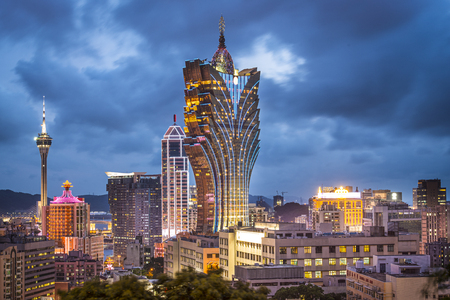 hotel casino: Macau, China city skyline. Editorial