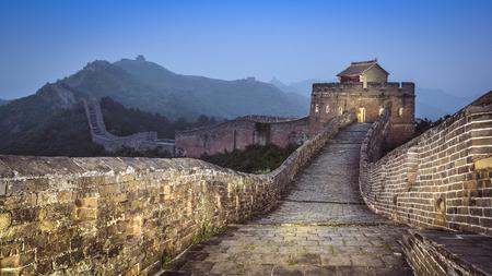 Grande Muraille de Chine Jinshanling dans la soirée. Banque d'images - 30148282