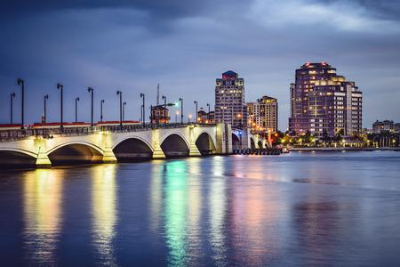 floridian: West Palm Beach, Florida, USA skyline on the intracoastal waterway.