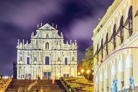 中国、マカオ聖 Paul 大聖堂の遺跡で 写真素材