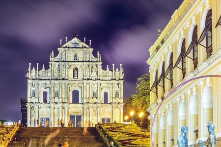 Macao, Chine dans les ruines de la cathédrale Saint-Paul. Banque d'images - 31040495