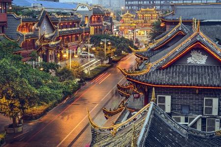 Chengdu, China at traditional Qintai Road district.