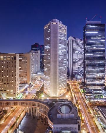 Tokyo, Japan cityscape in Shinjuku Ward.