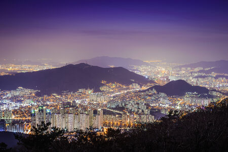 Busan, South Korea cityscape. photo