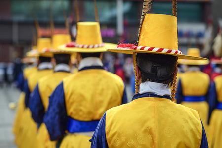 dynasty: Royal guards at Deoksu Palace in Seoul, South Korea.