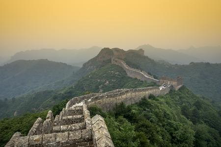 Great Wall of China. Unrestored sections at Jinshanling. photo