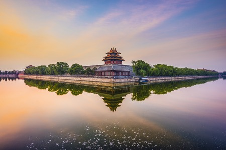 Beijing, China at the Imperial City north gate. 스톡 콘텐츠