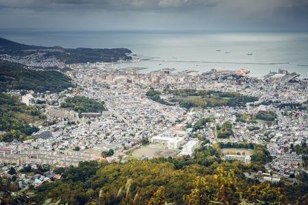 sapporo: Otaru, Hokkaido, Japan at Ishikari Bay. Stock Photo