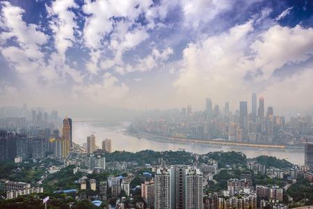 yangtze river: Chongqing, China over the Yangtze River.