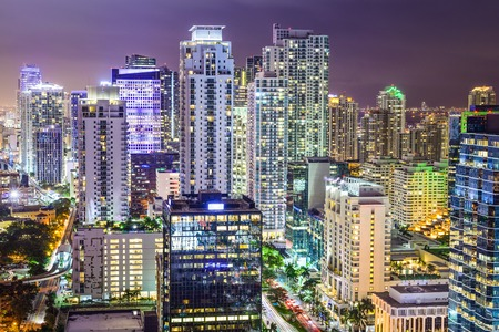 city of miami: Miami, Florida, USA downtown cityscape. Stock Photo
