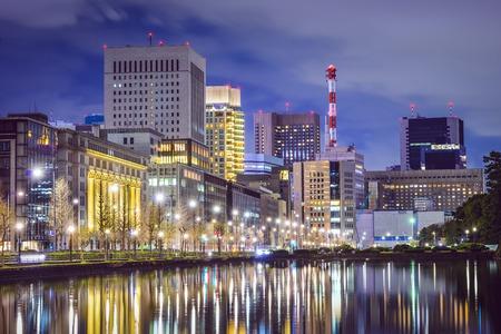 Tokyo, Japan cityscape at Marunouchi district.