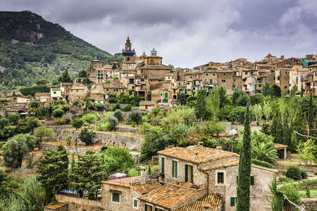 Valldemossa, Mallorca, Spain village. Фото со стока