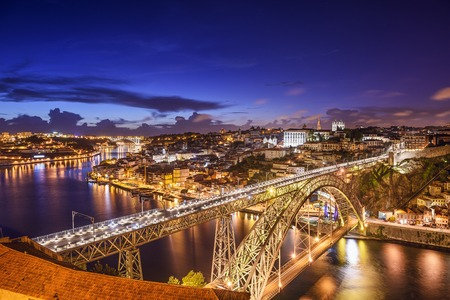 douro: Porto, Portugal cityscape on the Douro River.